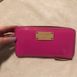 Like new hot pink Kate spade wallet